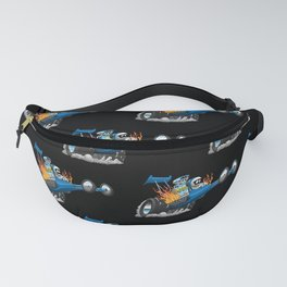 Top Fuel Dragster Cartoon Fanny Pack