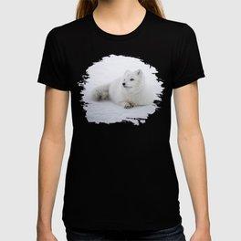 White snow arctic fox T-shirt