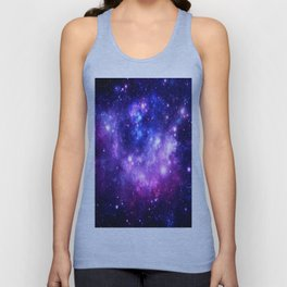 Purple Blue Galaxy Nebula Unisex Tank Top