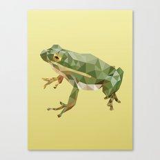 Geometric Frog Canvas Print