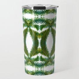 Palm Leaf Kaleidoscope (on white) #2 Travel Mug