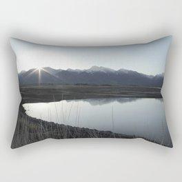 Mission Mountain Sunrise Rectangular Pillow
