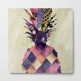 Pineapple Brocade I Metal Print