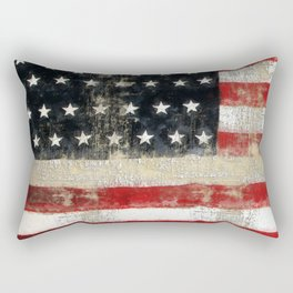 USA Flag ~ American Flag ~ Distressed Pattern ~ Ginkelmier Inspired Rectangular Pillow