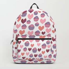 Hearts & Cakes Pattern Backpack