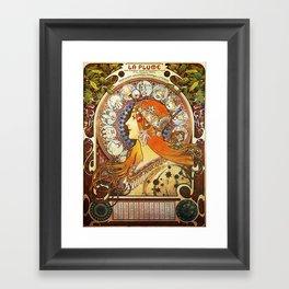 Alphonse Mucha La Plume Zodiac Framed Art Print