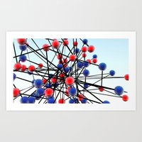 dna Art Prints featuring DNA by Danielle Waterworth