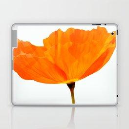 One And Only - Orange Poppy White Background #decor #society6#buyart Laptop & iPad Skin