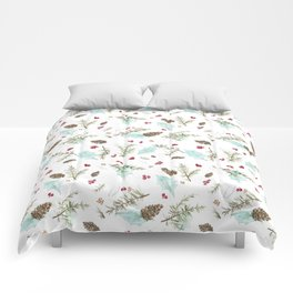 Pinecones and Berries Comforters
