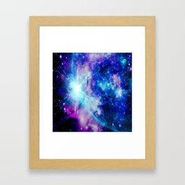 galaxy Nebula Star Framed Art Print