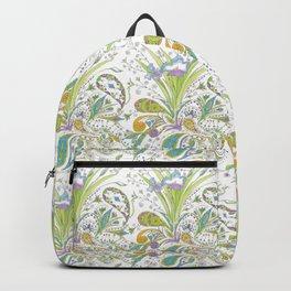Whimsical Paisley Iris Backpack