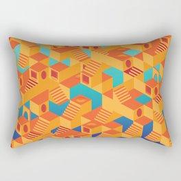 Escher cube Rectangular Pillow