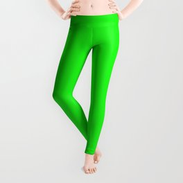 From The Crayon Box – Electric Lime - Bright Green - Neon Green Solid Color Leggings