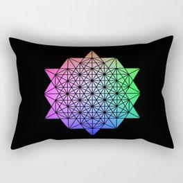 64 Star Tetrahdron Rectangular Pillow