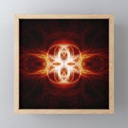 Flaming Rings Framed Mini Art Print