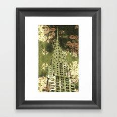 The Chrysler Building in Green Framed Art Print