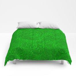 Neon Green Alien DNA Plasma Swirl Comforters