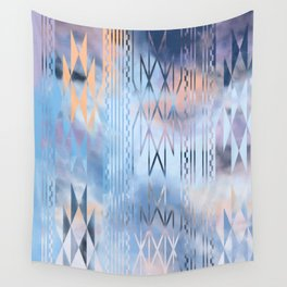 Blue Tribal No.1 Wall Tapestry