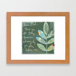 Thank you God (Leaf art) Framed Art Print