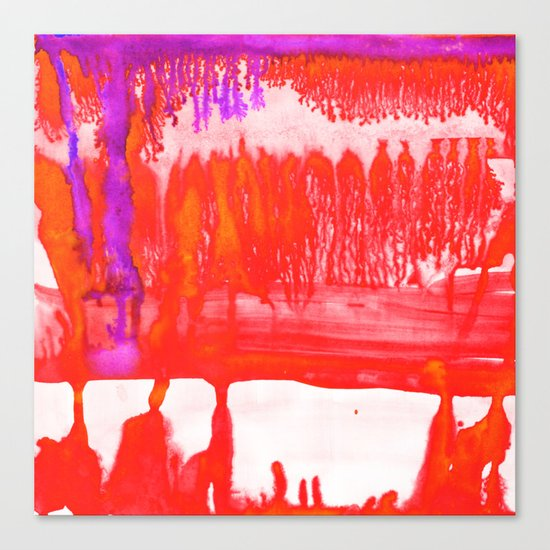 Dip Dye Tangelo Canvas Print