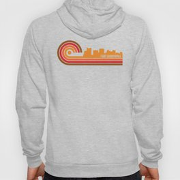 Retro Style Fort Lauderdale Florida Skyline Hoody