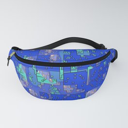 Abstract Blue Cityscape Fanny Pack