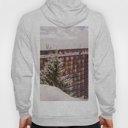 Mountain architecture colorful Hoody