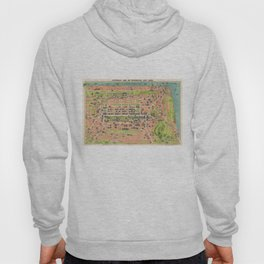 Vintage Map of Edinburgh Scotland (1935) Hoody
