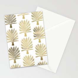 Palm Tree – Gold Palette Stationery Cards