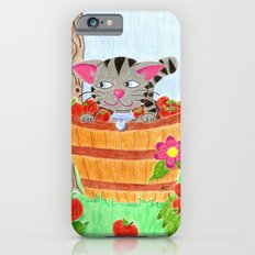 Tabby cat in an apple basket Slim Case iPhone 6s