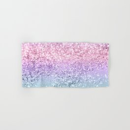 Unicorn Girls Glitter #1 #shiny #pastel #decor #art #society6 Hand & Bath Towel