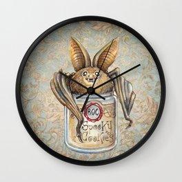 Bat Cookies Wall Clock