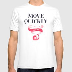 Move Quickly, Break Shit Mens Fitted Tee White MEDIUM