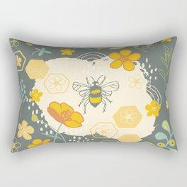 Little Bee and Buttercups Rectangular Pillow