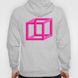 Impossible Cube in Pink Hoody