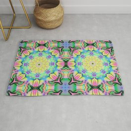 Summer feelings, colourful kaleidoscope design Rug