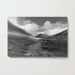 Mountain pass in Scotland Metal Print