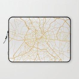 BERLIN GERMANY CITY STREET MAP ART Laptop Sleeve