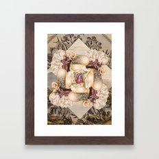 twisted *collage Framed Art Print
