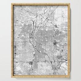 Denver White Map Serving Tray