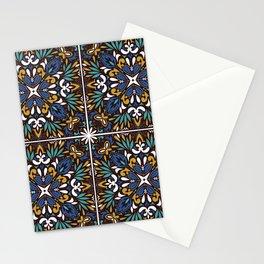 Funky tile pattern Stationery Cards