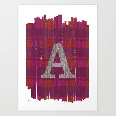 Winter clothes. Letter A III. Art Print