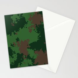 Camouflage forest Stationery Cards
