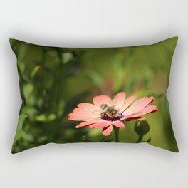 Bee on Osteospermum Rectangular Pillow