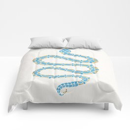 Serpent – Cornflower Blue & Gold Comforters