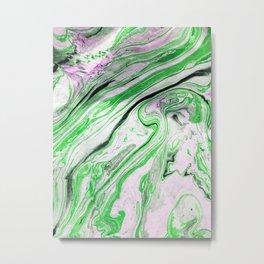 Melting Green Metal Print