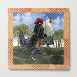 The Cluckfosters Step Out Metal Print