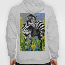 ZEBRA YELLOW ORCHIDS TROPICAL BLOOM Hoody