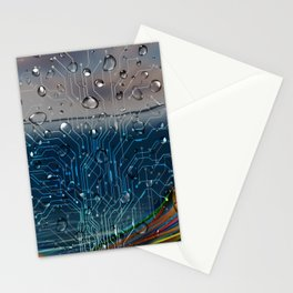 Ocean of Wires-Global Network Stationery Cards