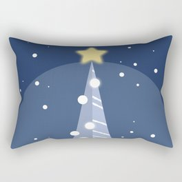 Christmas in Blue Rectangular Pillow